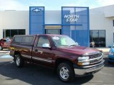 2001 Dark Carmine Red Metallic Chevrolet Silverado 1500 LS Regular Cab 4x4 #12643711