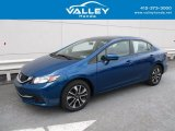 2015 Dyno Blue Pearl Honda Civic EX Sedan #126530588