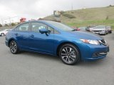 2015 Dyno Blue Pearl Honda Civic EX Sedan #126549783