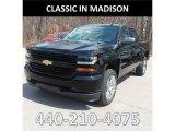 2018 Black Chevrolet Silverado 1500 Custom Crew Cab 4x4 #126580020