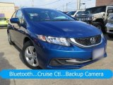 2015 Dyno Blue Pearl Honda Civic LX Sedan #126579718