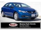 2015 Dyno Blue Pearl Honda Civic LX Sedan #126579855