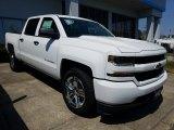 2018 Summit White Chevrolet Silverado 1500 Custom Crew Cab #126631649