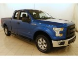 2015 Blue Flame Metallic Ford F150 XL SuperCab 4x4 #126648685