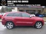 2014 Deep Cherry Red Crystal Pearl Jeep Grand Cherokee Overland 4x4 #126648559