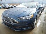 2018 Blue Metallic Ford Fusion SE #126663676