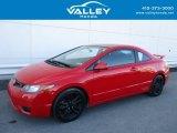 2007 Rallye Red Honda Civic Si Coupe #126714064