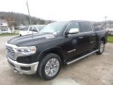 2019 Diamond Black Crystal Pearl Ram 1500 Long Horn Crew Cab 4x4 #126792709