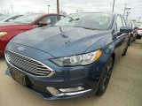 2018 Blue Metallic Ford Fusion SE #126792782
