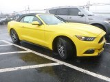 2017 Triple Yellow Ford Mustang EcoBoost Premium Convertible #126810133