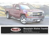 2014 Deep Ruby Metallic Chevrolet Silverado 1500 LTZ Double Cab 4x4 #126881021
