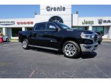 2019 Diamond Black Crystal Pearl Ram 1500 Long Horn Crew Cab 4x4 #126917761