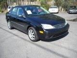 2005 Pitch Black Ford Focus ZX4 SE Sedan #12685137