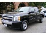 2007 Black Chevrolet Silverado 1500 LT Crew Cab 4x4 #12687370