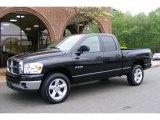 2008 Brilliant Black Crystal Pearl Dodge Ram 1500 ST Quad Cab 4x4 #12687373