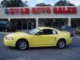 2002 Zinc Yellow Ford Mustang V6 Coupe #12683926