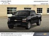 2018 Black Chevrolet Silverado 1500 Custom Crew Cab 4x4 #127037147
