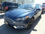 2018 Blue Metallic Ford Fusion SE #127037426