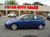 Sonic Blue Metallic Ford Focus in 2003