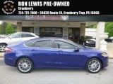 2016 Deep Impact Blue Metallic Ford Fusion SE AWD #127230944