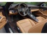 2018 Porsche 911 Turbo S Cabriolet Espresso/Cognac Natural Interior