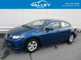 2015 Dyno Blue Pearl Honda Civic LX Sedan #127313145
