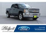 2013 Blue Granite Metallic Chevrolet Silverado 1500 LS Crew Cab #127437273