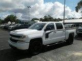 2018 Summit White Chevrolet Silverado 1500 Custom Crew Cab #127461373