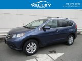 2014 Twilight Blue Metallic Honda CR-V EX-L AWD #127547855