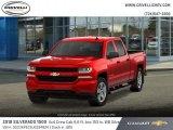 2018 Red Hot Chevrolet Silverado 1500 Custom Crew Cab 4x4 #127548027