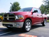 2009 Inferno Red Crystal Pearl Dodge Ram 1500 SLT Quad Cab #12723093