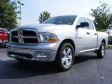 2009 Bright Silver Metallic Dodge Ram 1500 SLT Quad Cab #12723094