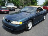 1994 Deep Forest Green Metallic Ford Mustang V6 Convertible #12709601
