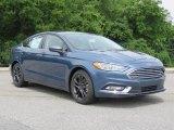 2018 Blue Metallic Ford Fusion SE #127569857