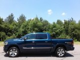 2019 Patriot Blue Pearl Ram 1500 Limited Crew Cab 4x4 #127590710