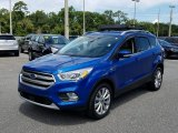 2017 Lightning Blue Ford Escape Titanium #127689276