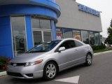 2007 Alabaster Silver Metallic Honda Civic LX Coupe #12710272