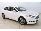 2015 White Platinum Metallic Ford Fusion Titanium #127776774