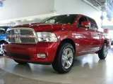 2009 Inferno Red Crystal Pearl Dodge Ram 1500 Sport Crew Cab #12723105