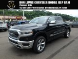 2019 Diamond Black Crystal Pearl Ram 1500 Limited Crew Cab 4x4 #127791301