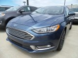2018 Blue Metallic Ford Fusion S #127791347