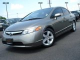 2006 Galaxy Gray Metallic Honda Civic EX Sedan #12721631
