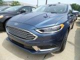 2018 Blue Metallic Ford Fusion SE #127906749