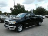 2019 Diamond Black Crystal Pearl Ram 1500 Big Horn Quad Cab #128037695