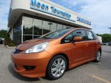 2011 Orange Revolution Metallic Honda Fit Sport #128037588
