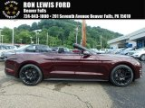 2018 Royal Crimson Ford Mustang EcoBoost Convertible #128051268