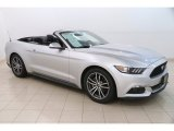 2017 Ingot Silver Ford Mustang EcoBoost Premium Convertible #128152202