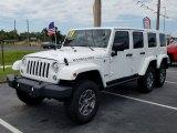 2017 Bright White Jeep Wrangler Unlimited Rubicon 4x4 #128197532