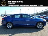 2018 Lightning Blue Ford Fusion SE #128197338