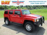 2009 Victory Red Hummer H3  #128197332
